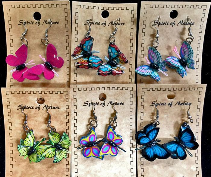 15 Colorful Butterfly Earrings! WHOLESALE $2.75 ea!