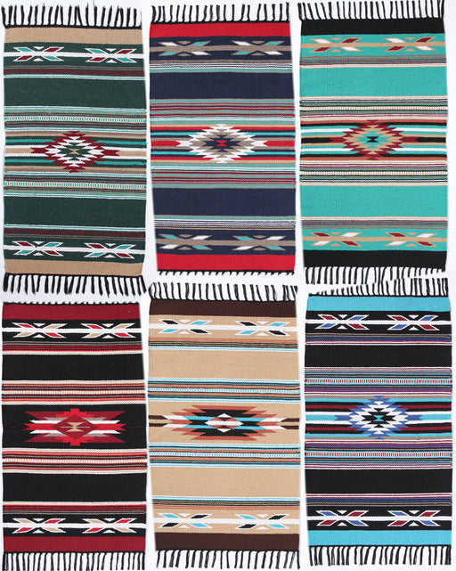 "20"" X 34""  Cotton Cantina Throw Rugs"