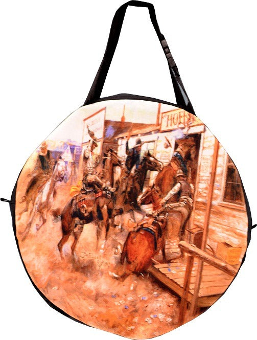 Western Painting Print on Rodeo Rope Bag from El Paso Saddleblanket