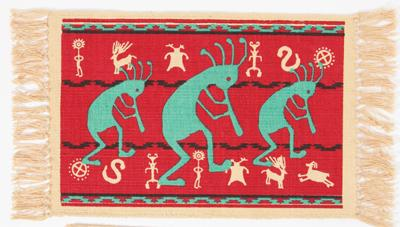 Cotton Stencil Placemat- Kokopelli