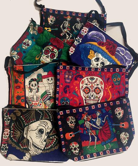 12 Folk Art Day of the Dead Stenciled Purses! WHOLESALE $ 7 ea.!