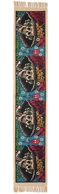 Cotton Table Runner - Day of the Dead Design
