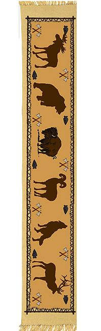 Cotton Table Runner - Wildlife, Horizontal