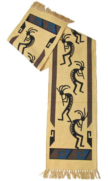 Cotton Table Runner - Kokopelli