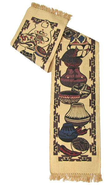 Cotton Table Runner - Pottery Designs