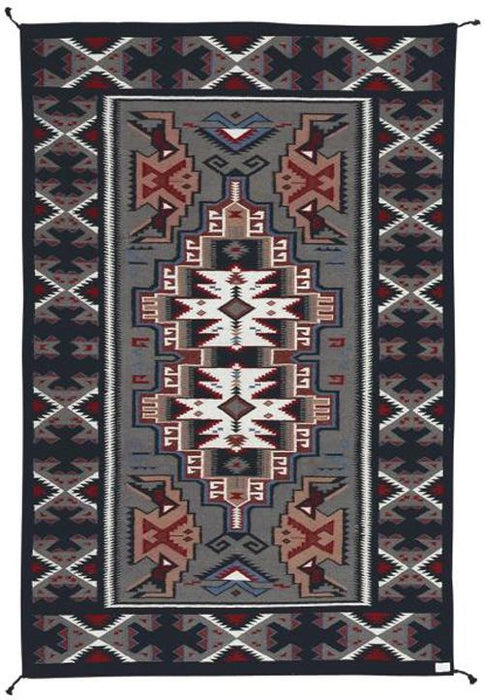 4' x 6' HANDWOVEN WOOL TRADING POST RUG 677