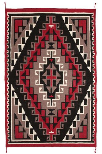 NEW ! Hand Woven Wool 6' x 9' Wool Trading Post Rug !
