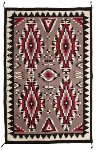 Tapestry Quality Hand Loomed 6'x9'  Wool Trading Post Rug !