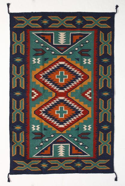 4' x 6' HANDWOVEN WOOL TRADING POST RUG 783C