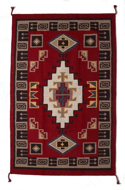 4' x 6' HANDWOVEN WOOL TRADING POST RUG 789A