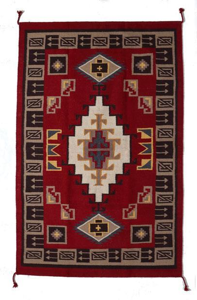 6'x9' Hand Woven Wool Trading Post Rug 789A