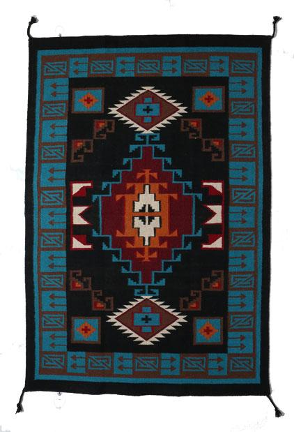 4' x 6' HANDWOVEN WOOL TRADING POST RUG 789C