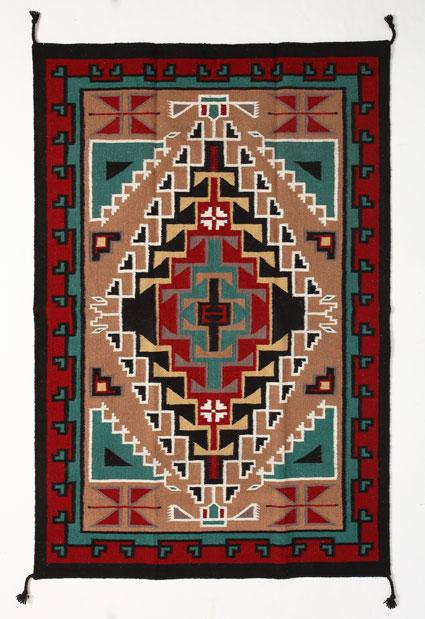6'x9' Hand Woven Wool Trading Post Rug 794A