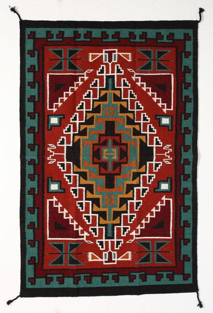 4' x 6' HANDWOVEN WOOL TRADING POST RUG 794B
