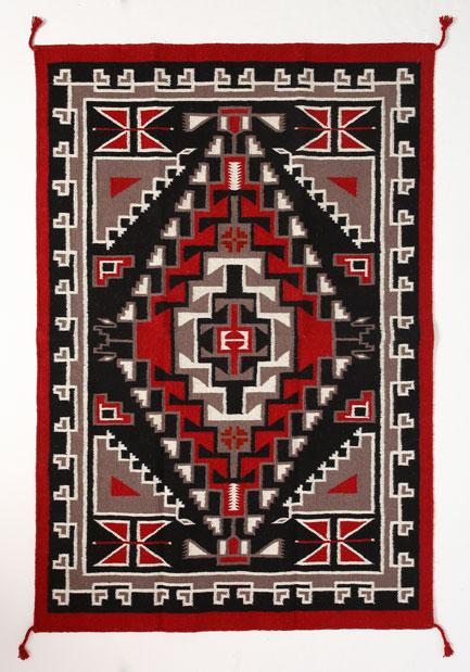4' x 6' HANDWOVEN WOOL TRADING POST RUG 794C