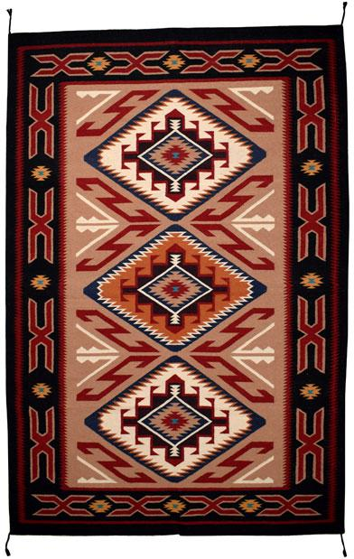 6'x9' Hand Woven Wool Trading Post Rug 797