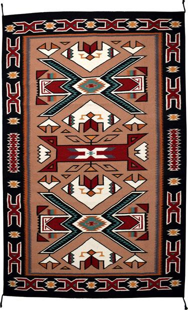 4' x 6' HANDWOVEN WOOL TRADING POST RUG 798