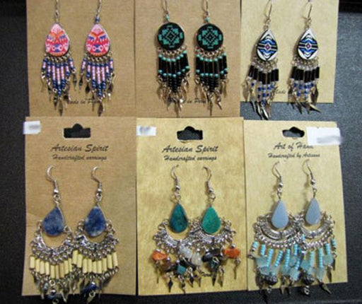 HANDCRAFTED EARRING PACKAGE! WHOLESALE- $2.50 ea.!