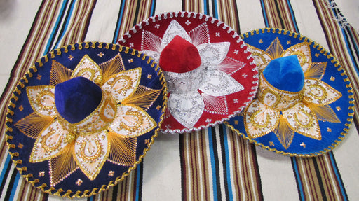 Colorful Charro Style Sombreros from MEXICO