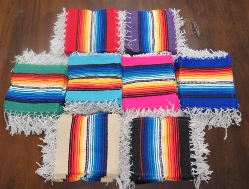 "100 Assorted 6""x6"" Color Serape Color Coasters! Wholesale $.45 ea.!"