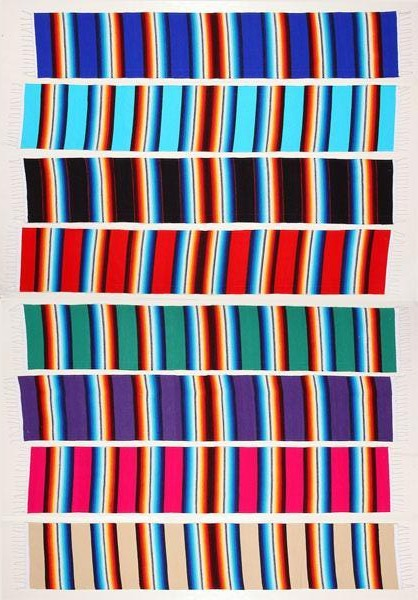 Mexican Style Serape Table Runners from El Paso Saddleblanket