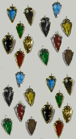 NEW! 50-Electro Plated Arrowhead Pendants WHOLESALE $1.20 ea!