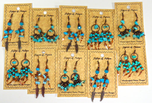 Earring Bonanza! 24- Southwest Style Copper & Nugget Earrings! WHOLESALE $2.50 ea.