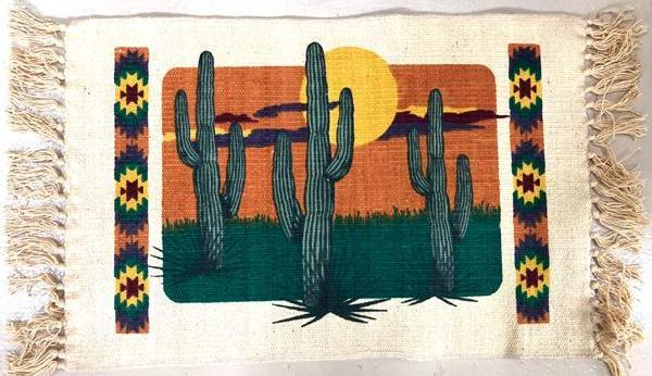 Cotton Stencil Placemat - CACTUS