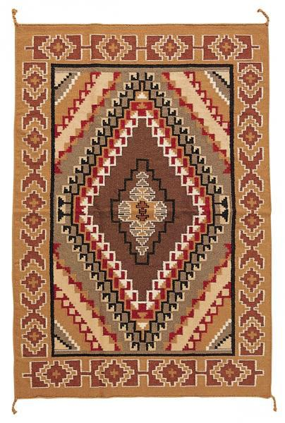 4X6 Hand Woven Wool Trading Post Rug 603
