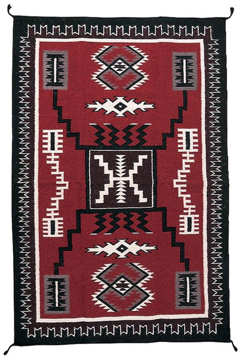 4'x6' Hand Woven Wool Trading Post Rug  -  631