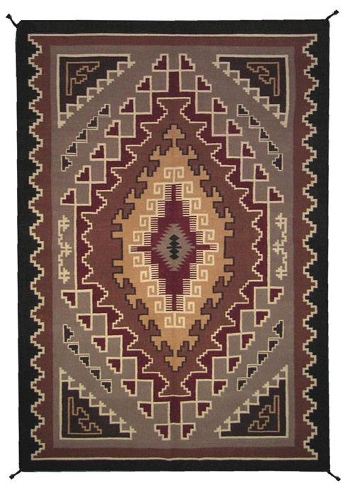 4'x6' Hand Woven Wool Trading Post Rug - 787