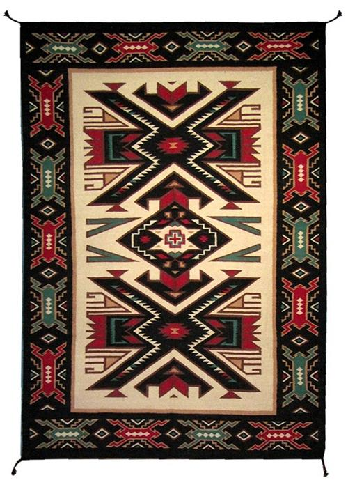 4'x6' Hand Woven Wool Trading Post Rug - 788