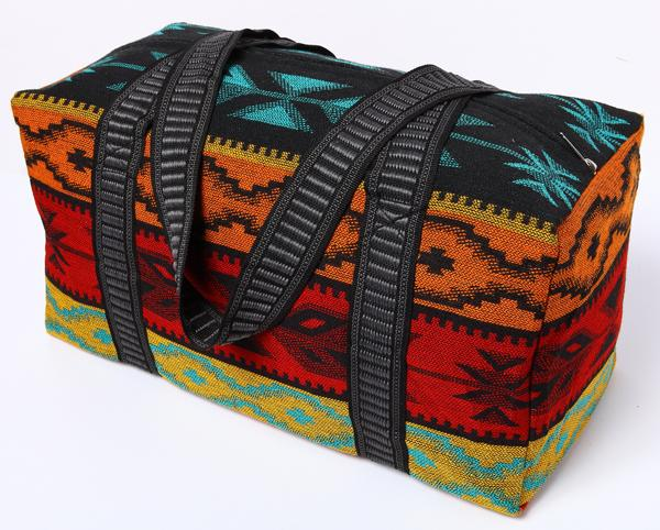 Southwest Geometric Weekender Bag in design K from El Paso Saddleblanket
