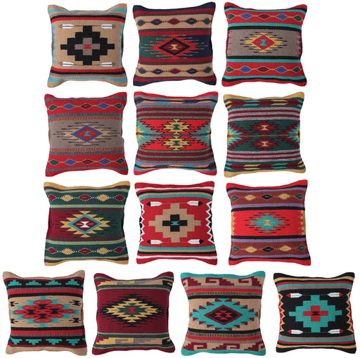 Handwoven Cotton Azteca Pillow Covers