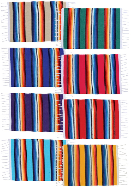 Colorful Mexican Style Serape Placemats from El Paso Saddleblanket Company