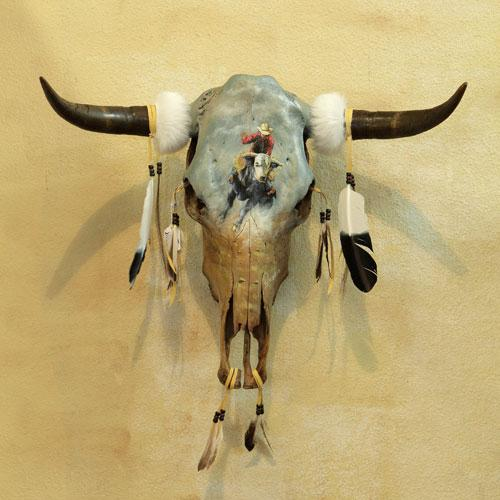 BEAUTIFUL Hand Painted Rodeo Southwest Skull! WHOLESALE $64 ea!