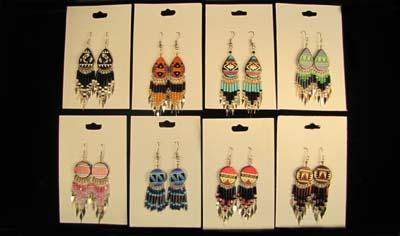 24 Assorted Handcrafted Earrings From Peru. WHOLESALE $2.50 each pair!