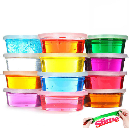 Magic Crystal Soft Slime Clay, 12 couleurs éducatives Pâte Toys pour enfants