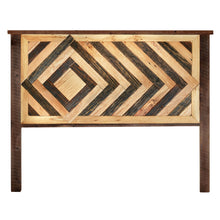 Diamond Pattern Reclaimed Wood Headboard - Multiple Sizes