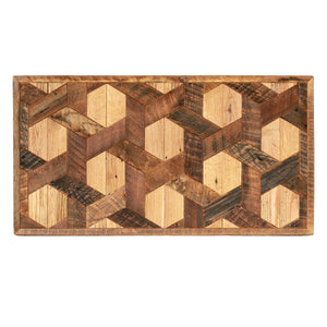 Wood Quilt Wall Art - Hexagon Pattern