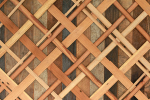 Woven Pattern Wood Wall Art - Large