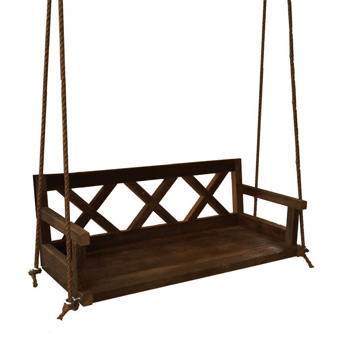 Ebony Farmhouse Porch Swing
