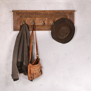 Coat Rack with Bronze Hooks