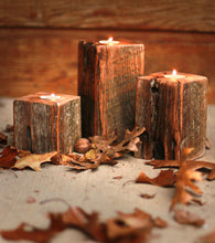 Rustic Tea Light Candle Holder Set