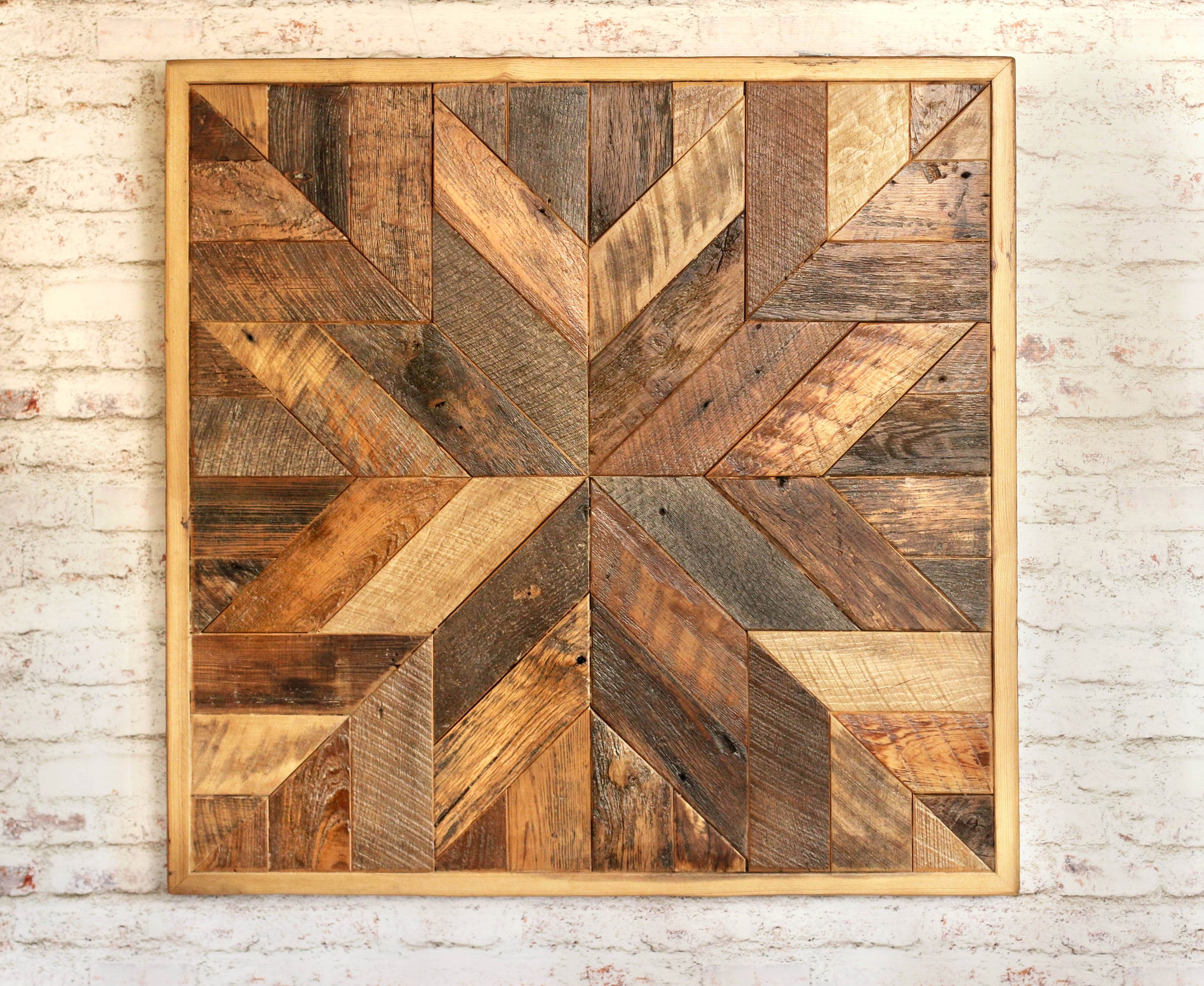 Reclaimed Wood Quilt Wall Art - Grindstone Design