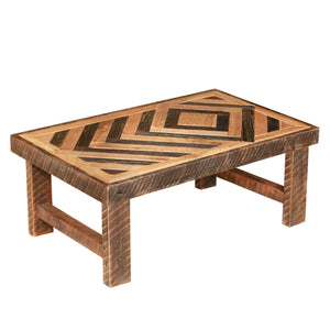 Diamond Pattern Coffee Table