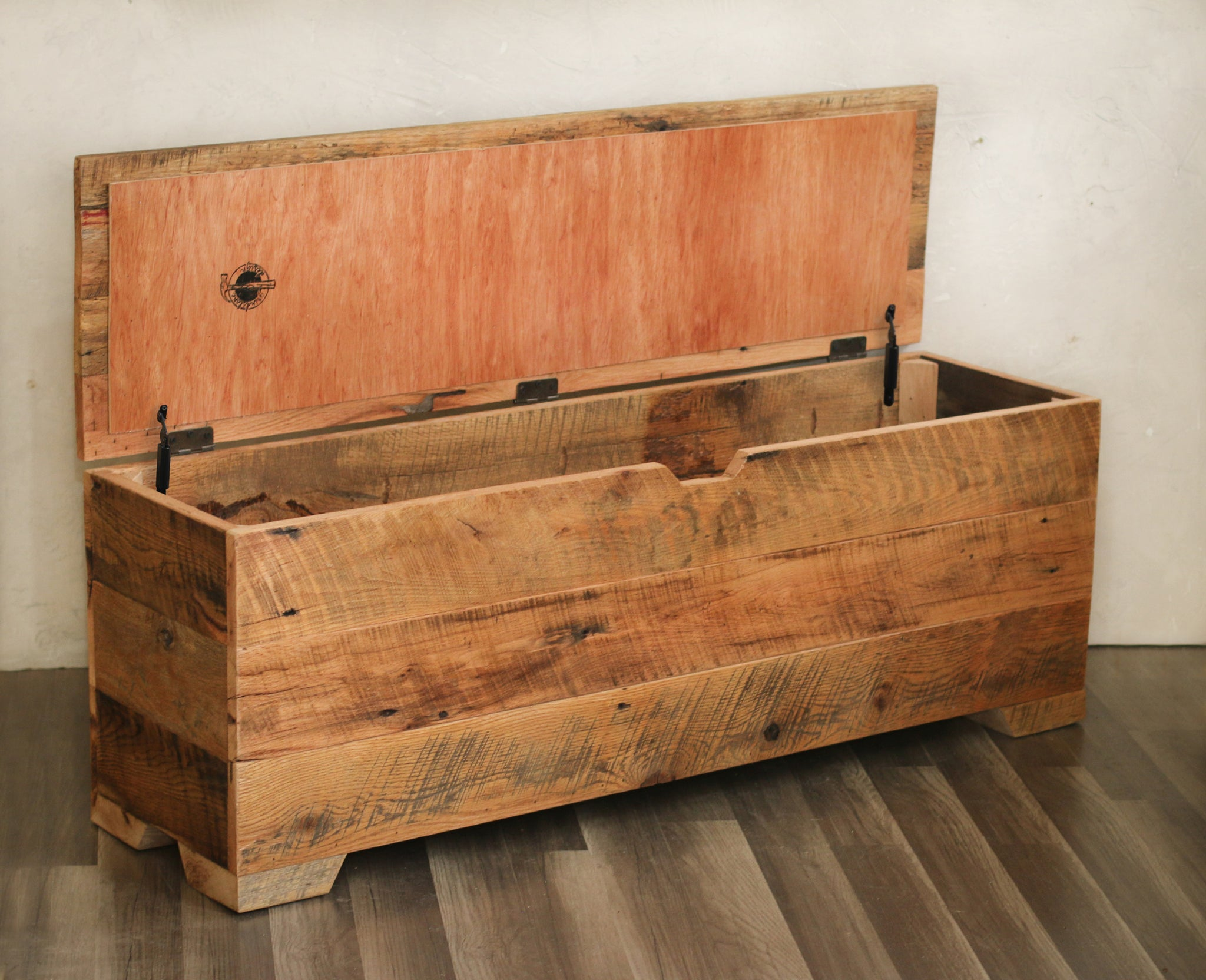 Miraculous Storage Bench Made From Reclaimed Barn Wood Grindstone Design Gmtry Best Dining Table And Chair Ideas Images Gmtryco
