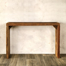 Console Table with Finger Joints - Made from Reclaimed Wood