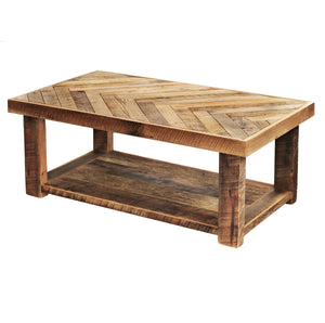 coffee table with bottom shelf