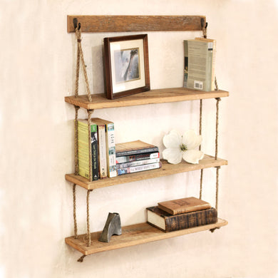 barn wood shelf